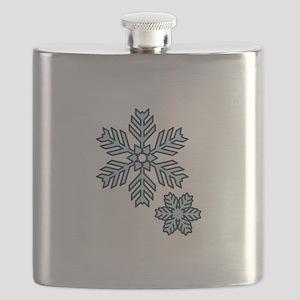 Snow Flakes Flask