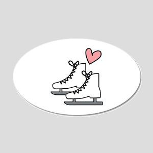 Love Ice Skating Wall Decal