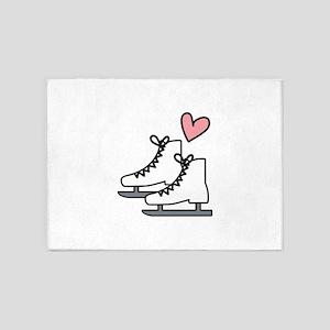 Love Ice Skating 5'x7'Area Rug