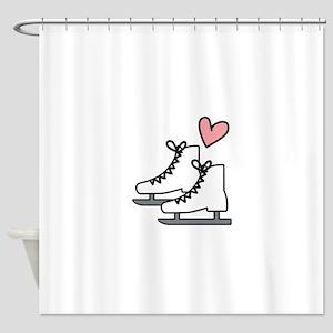 Love Ice Skating Shower Curtain