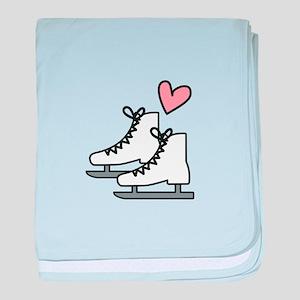 Love Ice Skating baby blanket