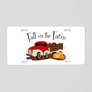 Fall On The Farm Aluminum License Plate