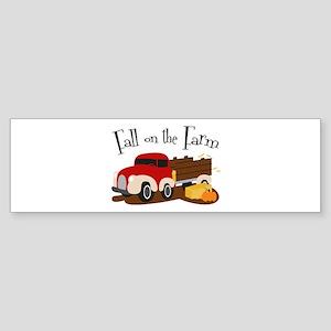 Fall On The Farm Bumper Sticker
