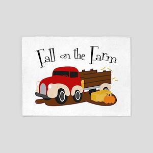 Fall On The Farm 5'x7'Area Rug