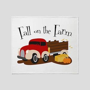 Fall On The Farm Throw Blanket