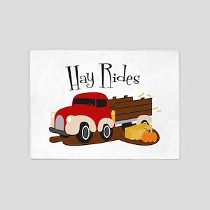 Hay Rides 5'x7'Area Rug