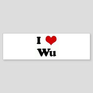 I Love Wu Bumper Sticker
