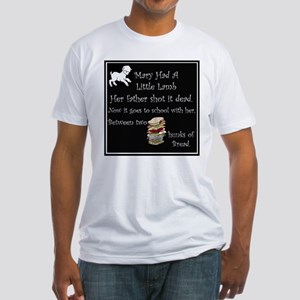 Mary Had A Little Lamb Fitted T-Shirt