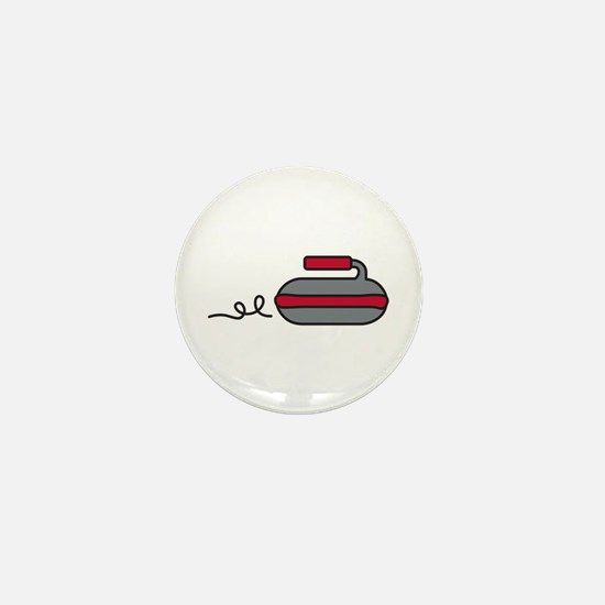 Curling Rock Mini Button