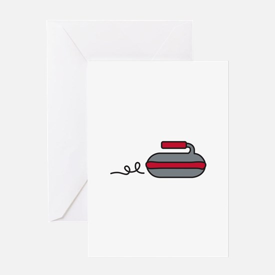 Curling Rock Greeting Cards
