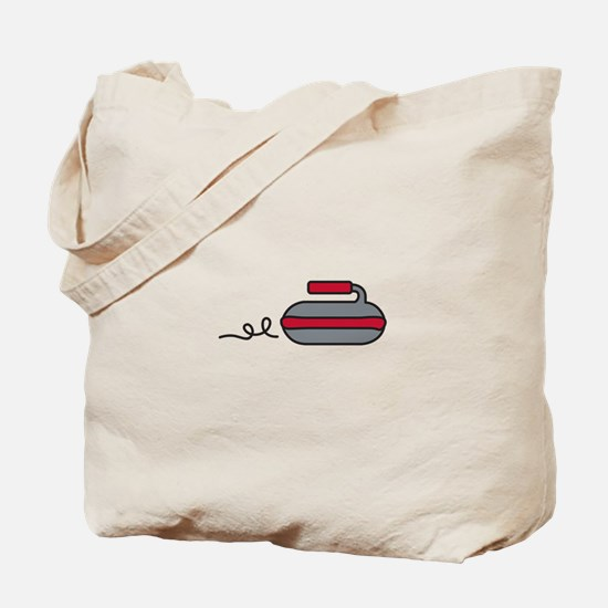 Curling Rock Tote Bag