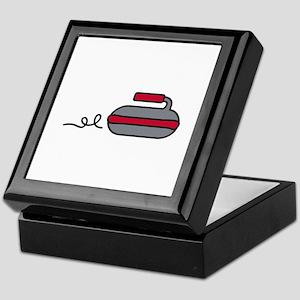 Curling Rock Keepsake Box