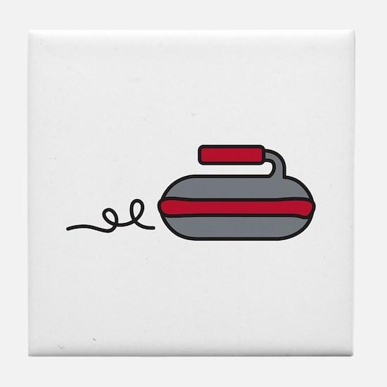 Curling Rock Tile Coaster