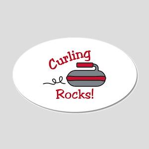 Curling Rocks Wall Decal