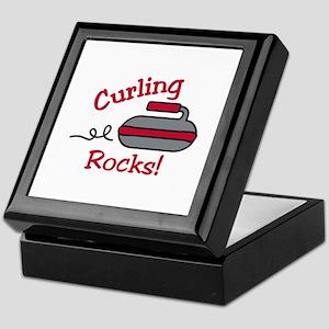 Curling Rocks Keepsake Box