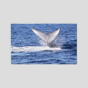 Majestic Blue Whale 3'x5' Area Rug
