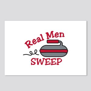 Real Men Sweep Postcards (Package of 8)