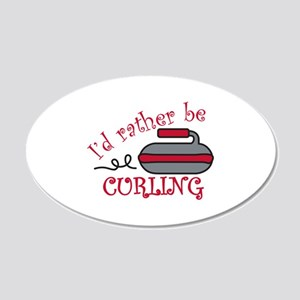Rather Be Curling Wall Decal