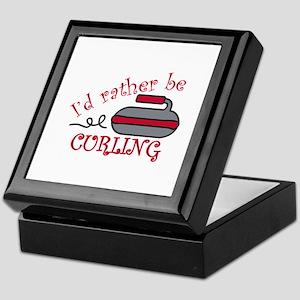 Rather Be Curling Keepsake Box