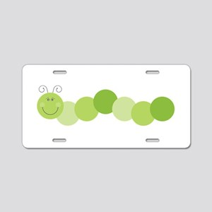 Caterpillar Worm Aluminum License Plate