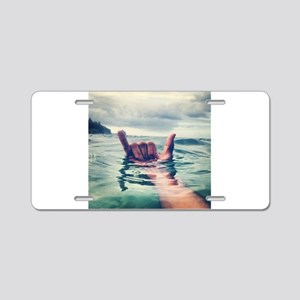 Hang Loose Aluminum License Plate