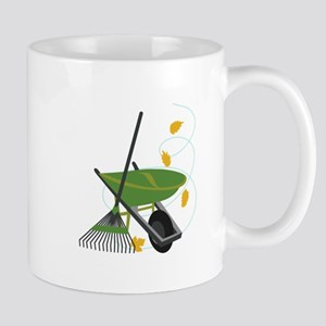 Wheelbarrow & Rake Mugs