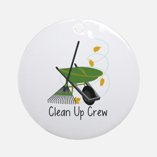 Clean Up Crew Ornament (Round)