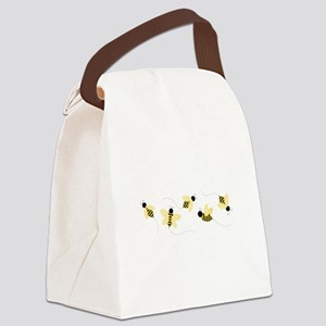 Bumble Bees Canvas Lunch Bag