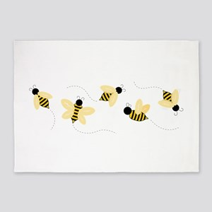 Bumble Bees 5'x7'Area Rug