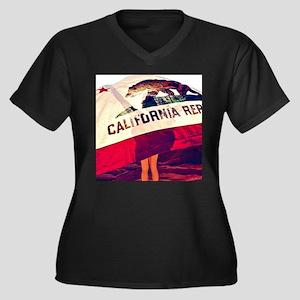 California Republic Plus Size T-Shirt