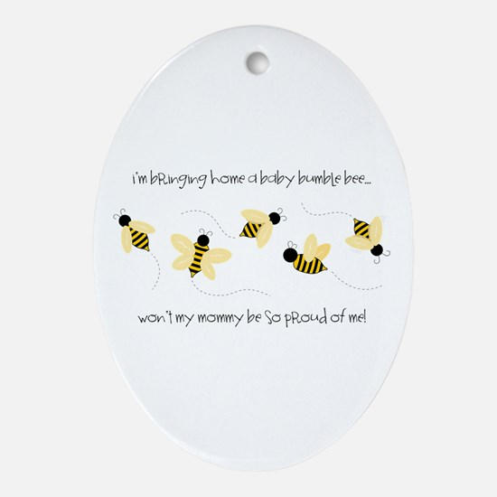 Baby Bumble Bee Ornament (Oval)