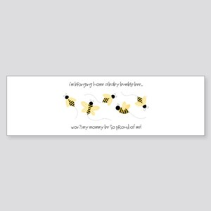Baby Bumble Bee Bumper Sticker