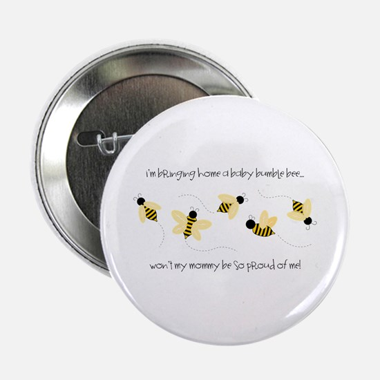"""Baby Bumble Bee 2.25"""" Button"""