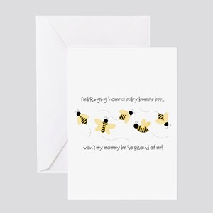 Big sister to bee greeting cards cafepress baby bumble bee greeting cards m4hsunfo