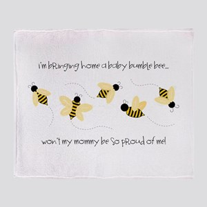 Baby Bumble Bee Throw Blanket