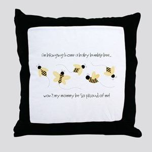 Baby Bumble Bee Throw Pillow