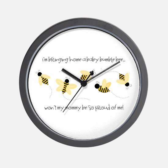 Baby Bumble Bee Wall Clock