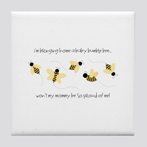 Baby Bumble Bee Tile Coaster