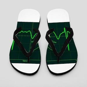 Canna Heartbeat Flip Flops