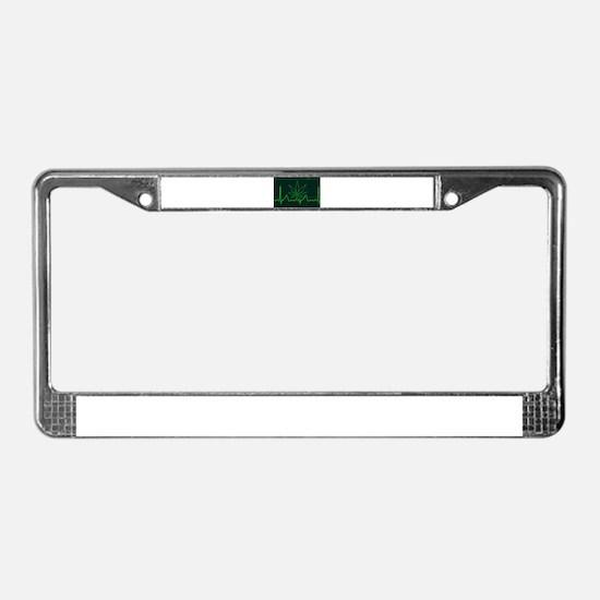 Canna Heartbeat License Plate Frame