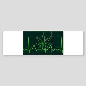 Canna Heartbeat Bumper Sticker