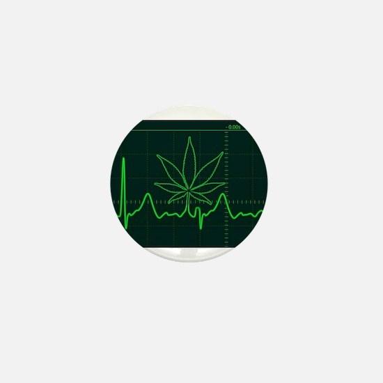Canna Heartbeat Mini Button