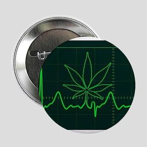 "Canna Heartbeat 2.25"" Button"
