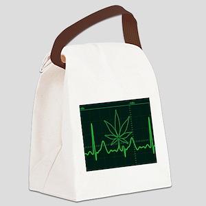 Canna Heartbeat Canvas Lunch Bag