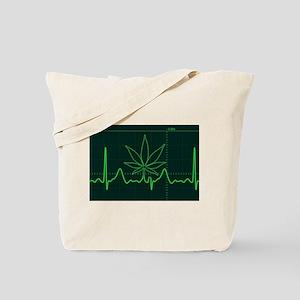 Canna Heartbeat Tote Bag