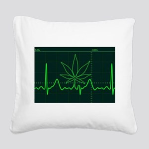 Canna Heartbeat Square Canvas Pillow