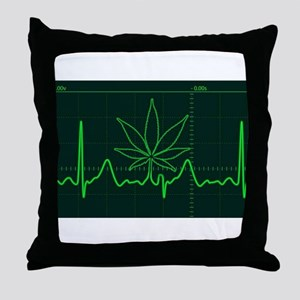 Canna Heartbeat Throw Pillow