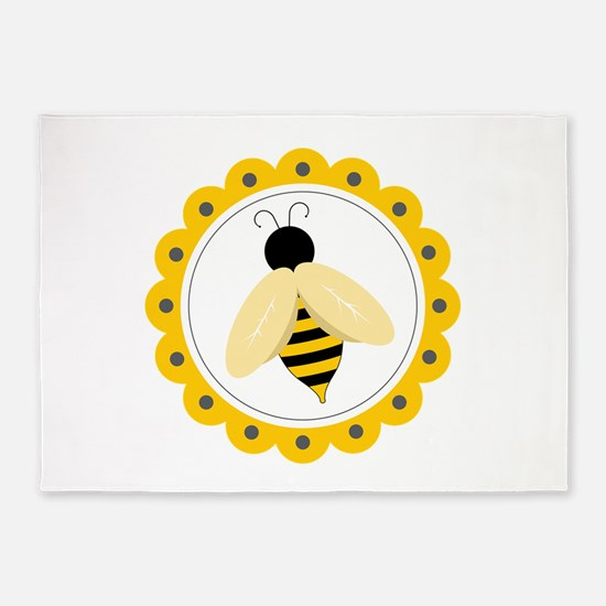 Bumble Bee Circle 5'x7'Area Rug