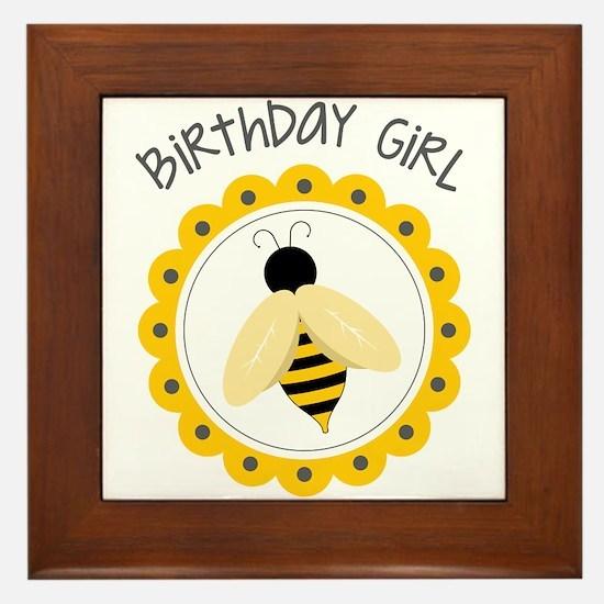 Birthday Girl Framed Tile