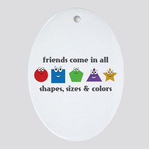 Learning Friends Ornament (Oval)